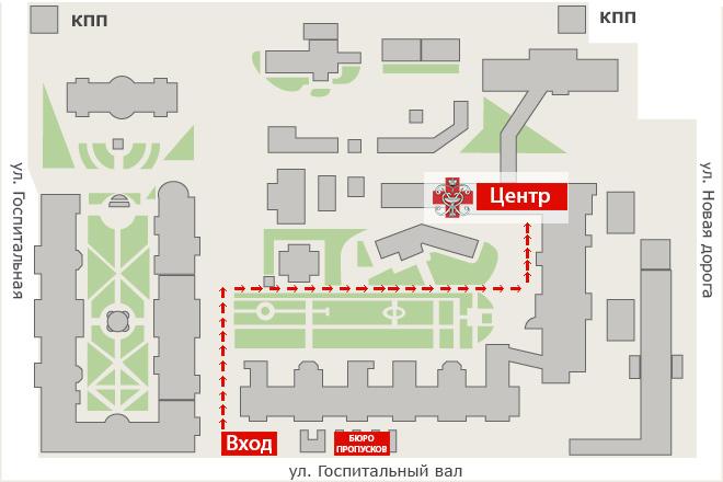 Схема прохода по территории